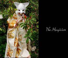 The Magician (paper mask art) by Phillip Valdez