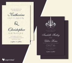 FREE Elegant Wedding Invitations With A Vintage Look template #wedding #free…
