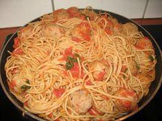 Kaunottaren ja Kulkurin spaghetti