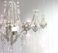 pearl chandelier hanging lantern by made with love designs ltd | notonthehighstreet.com