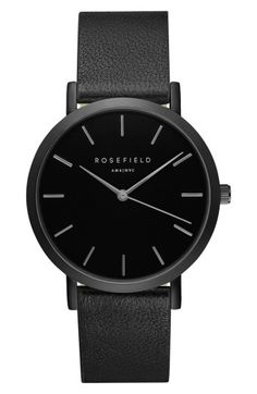 ROSEFIELD GRAMERCY LEATHER STRAP WATCH bbb846afb9c