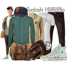 Disney Bound: Tadashi Hamada from Disney's Big Hero 6 Disney Themed Outfits, Disney Bound Outfits, Casual Cosplay, Cosplay Outfits, Anime Outfits, Fashion Outfits, Disney Inspired Fashion, Disney Fashion, Character Inspired Outfits
