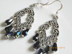 Tibetan silver charm Nile blue drops beads fashion handmade earrings $8.99