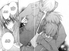 Vampire Knight 93 Page 22 when even Kaname ships Zeki!!!!!