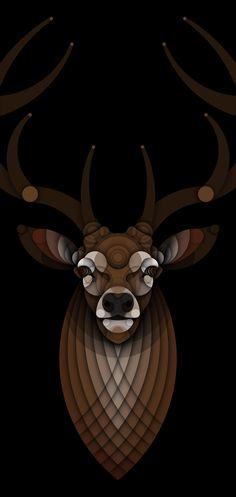 O designer Bruno Silva criou com circulos desenhos de belos animais
