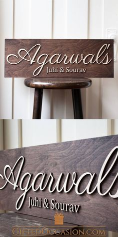Wonderful Carved Custom Dark Wood Stand Out? Wooden Name Plates, Door Name Plates, Name Plates For Home, Wooden Names, Wooden Diy, Wooden Decor, Wood Carving Faces, Wood Carving Designs, Wood Carving Patterns