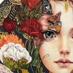 G r nt n n olas i eri i i ek Art And Illustration, Arte Indie, Art For Art Sake, Portrait Art, Beautiful Artwork, Love Art, Art Pictures, Collage Art, Fantasy Art