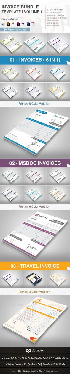 Invoice Proposals, Template and Web inspiration - product invoice