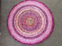 Pink and lavender round rug. by gramsheart on Etsy, $52.00 Made bigger 38 inches now.SOLD