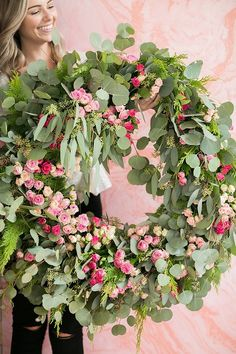 Host a Charming Wreath Making Party - Sugar and Charm - sweet recipes - entertaining tips - lifestyle inspiration