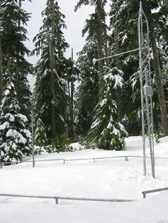Snow telemetry (SNOTEL) station near Blazed Alder Creek in northwest Oregon, United States. Credit: Natural Resources Conservation Service of the U.S. Department of Agriculture