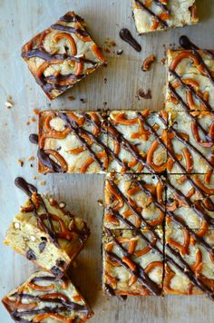 Pretzel Chocolate Chip Cookie Bars.