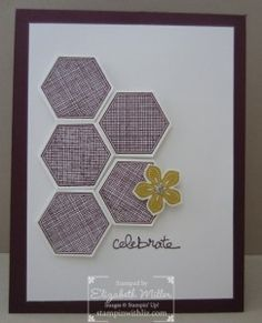 Celebrate card: made with Stampin Up Petite Petals and Six Sided sampler stamp sets