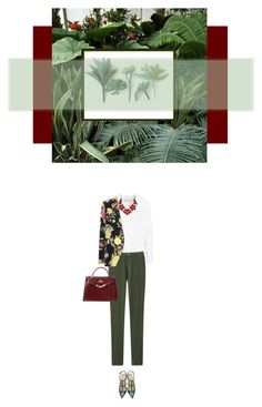 """Army Green"" by sublimis ❤ liked on Polyvore featuring By Malene Birger, Uniqlo, Hermès, Valentino, Etro and Gogreen"