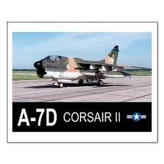 A-7 CORSAIR II Small Poster> A-7 CORSAIR II Attack Aircraft> Zoom Wear #Posters #Aircraft
