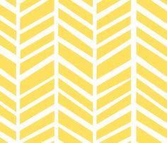 Herringbone - Lemon Zest Tellow fabric by friztin on Spoonflower