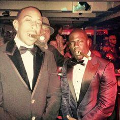 Ludacris and Kevin Hart enjoying a cigar
