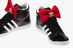 check out 02aa0 6f8e6 Super cute Adidas high tops with retro red bow