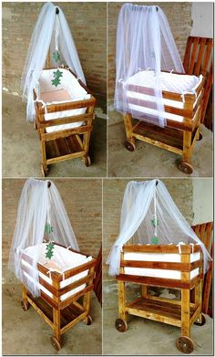 There is a need of a safe bed for the toddlers where they can be kept safe while the mother is working, so it is not necessary to pay a huge amount for getting the bed when you can create it at home. See the style of repurposed wood pallet toddler bed, the wheels are looking amazing.