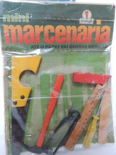 Mini-marcenaria - tinha esse kit e o serrote era de verdade.