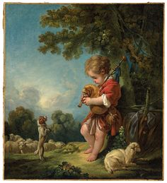 Boucher, Shepherd Boy Playing Bagpipes | Museum of Fine Arts, Boston