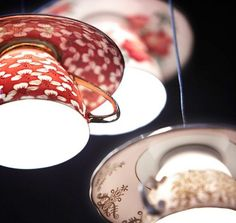 TEACUP LIGHTS - mom collects teapots and would love this!