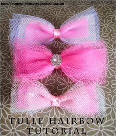 Mamma That Makes: Pretty Tulle Bow Tutorial