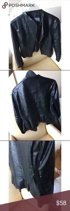 Black lamb leather jacket size L In good condition                                                       🌺Accept reasonable offers 🌺Fast shipper 🌺no trades 🌺i do bundle discount 25% Jackets & Coats