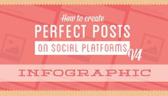 How To Create Perfect Posts for Blog, YouTube, Tumblr, Vine, Google+, Facebook and Twitter: Infographic