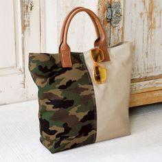 プレゼントにも!迷彩柄がおしゃれな手作りのトートバッグの作り方(バッグ) | ぬくもり