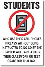 Students Who Use Their Cell Phones in Class - NEW Classroom Rules Poster