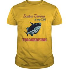 (Tshirt Amazing Discount) Scuba Diving is my Life Triggerfish Coupon 10% Hoodies Tee Shirts