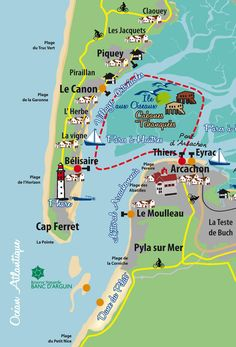 carte et plans du bassin d 39 arcachon annuaire d 39 entreprises bassin d 39 arcachon pinterest. Black Bedroom Furniture Sets. Home Design Ideas