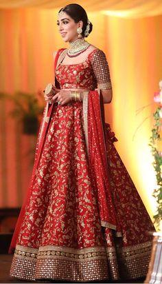 Pakistani bride in Dabyasachi Indian Bridal Outfits, Indian Bridal Lehenga, Indian Bridal Fashion, Indian Bridal Wear, Indian Designer Outfits, Indian Dresses, Sabyasachi Lehenga Bridal, Bollywood Lehenga, Bridal Sarees