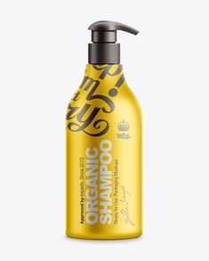 500ml Shampoo Bottle With Lotion Pump Mockup. Preview