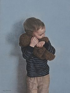Bear Hug by artist Holly Bedrosian. #coloredpencil artwork found on the FASO Daily Art Show - http://dailyartshow.faso.com