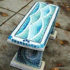 Wave garden bench
