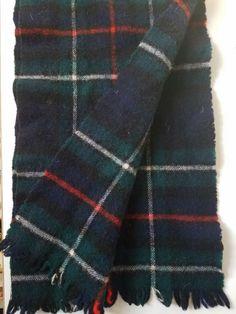 Details about 100% Wool Scarf Made in Scotland MacKenzie Tartan - Outlander 81b4266a3