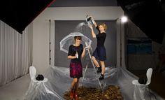 Knielange Kleider - Kleid Calla schwarz /Rock dunkelblau - ein Designerstück von kirsch-gruen bei DaWanda