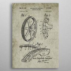 1952 Composite Gear Wheel by Nicram K Gear Wheels, Jean Baptiste, Gears, Vintage World Maps, Posters, Metal, Sketches, Gear Train, Poster
