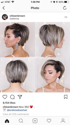 Image gallery – Page 423197696232860195 – Artofit Crown Hairstyles, Short Bob Hairstyles, Pretty Hairstyles, Short Hair With Layers, Short Hair Cuts For Women, Love Hair, Great Hair, Medium Hair Styles, Short Hair Styles