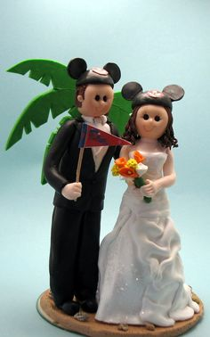 Wedding Cake Topper Disney Theme Custom by MandMClayCreations, $20.00