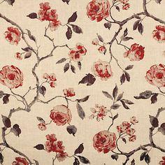 Buy John Lewis Linen Rose Fabric Online at johnlewis.com