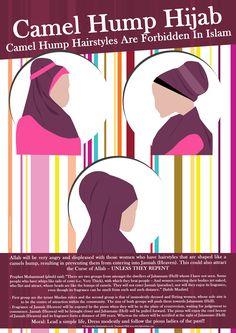 Camel hump hijab is forbidden in Islam. Hadith Quotes, Muslim Quotes, Hijab Quotes, Quran Quotes, Islam Muslim, Islam Quran, Islamic Inspirational Quotes, Islamic Quotes, Tutorials