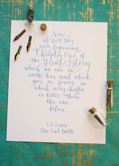 The perfect modern Narnia nursery quote!! Must get it in gold grey or mint! via Riley Write Scout