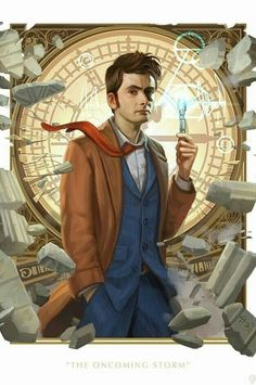 David Tennant as The Tenth Doctor The Doctor, Bad Wolf Doctor Who, Doctor Who Amy Pond, Serie Doctor, Doctor Who Clara, Peter Capaldi Doctor Who, Doctor Who Dalek, Doctor Who Funny, Doctor Who Fan Art