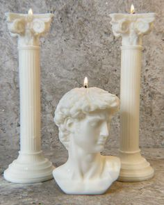 Candle Sculpture, Matisse Cutouts, Roman Candle, Geometric Solids, Roman Columns, Starburst Mirror, Luxury Candles, Candle Set, Pillar Candles