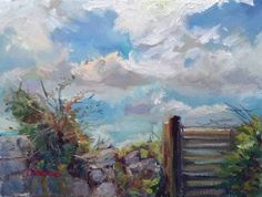 Original Oil Painting Plein air landscape by TheCaitGallery