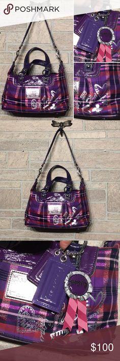 9fc12c16cc07 Coach - Poppy purse purple -like new -cute & roomy Coach Poppy Purse -