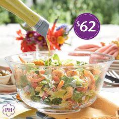 Sirve tus hermosas y sabrosas #ensaladas en este elegante #TazónDeCristal soplado y tallado a mano.